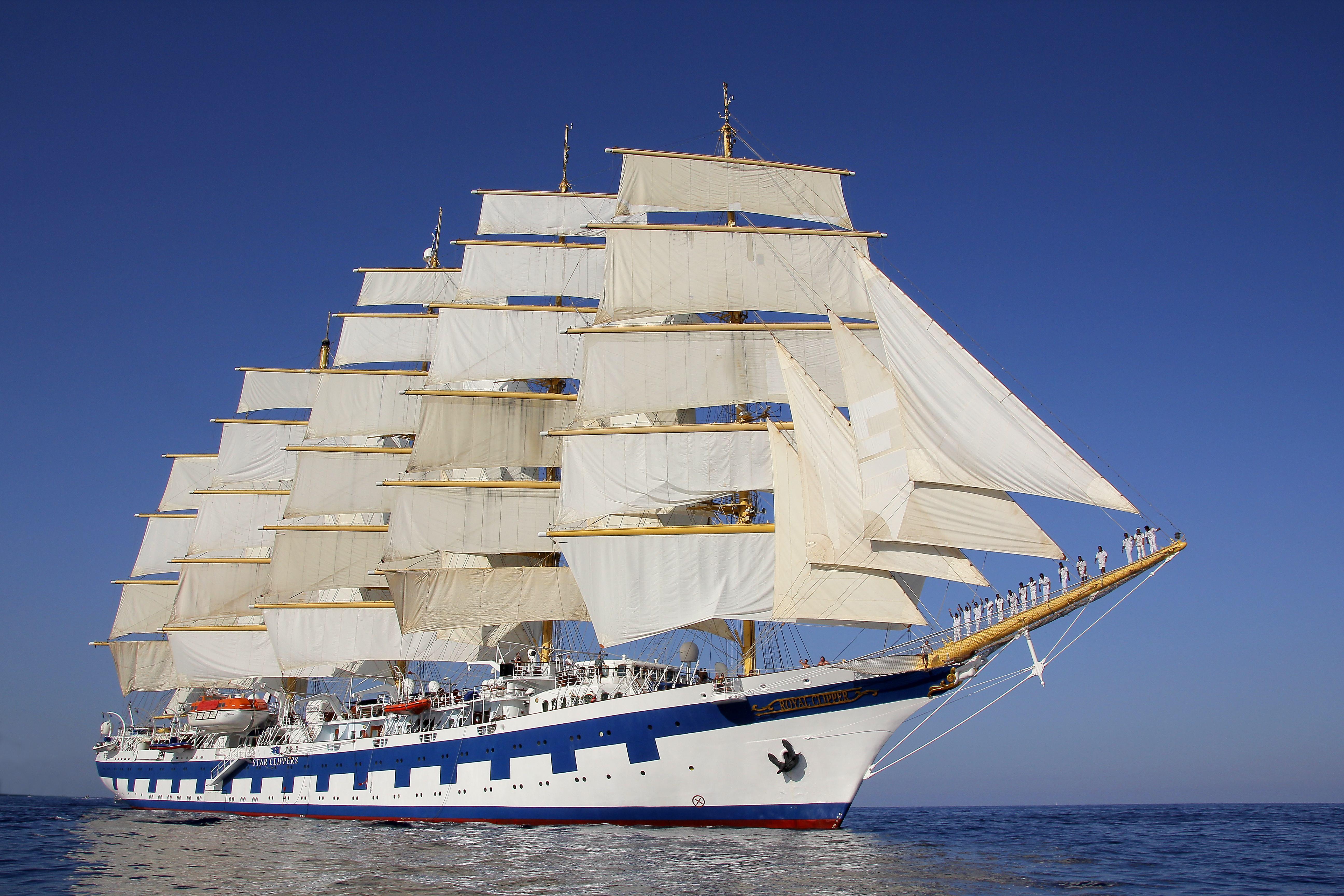 der f nfmaster royal clipper gr tes segelschiff der welt kommt nach europader. Black Bedroom Furniture Sets. Home Design Ideas