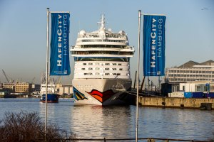 Abkunft AIDASOL am 08.03.2014 in Hamburg. Foto: Ulrich Perrey