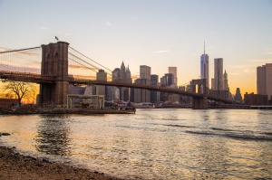 Brooklyn Bridge with New York