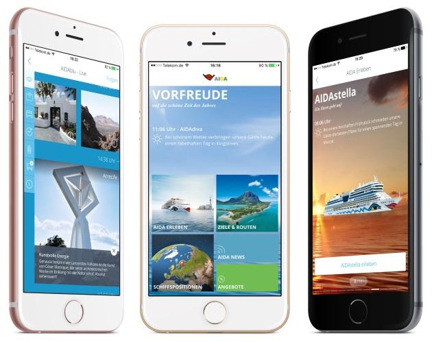 PM Neue AIDA Smartphone App