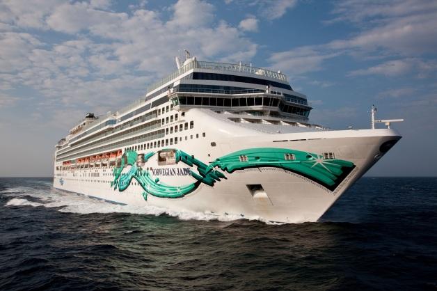 Aerial Norwegian Jade off Cannes - Mediterranean Sea Norwegian Jade - Norwegian Cruise Line