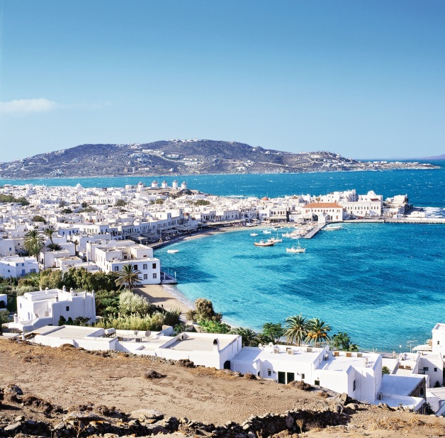 Greece, Aegean islands, Cyclades, Mikonos island, Mykonos, Travel Destination, Town and harbour