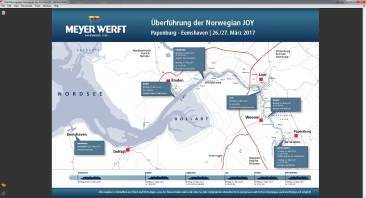 Überführungsplan Norwegian Joy