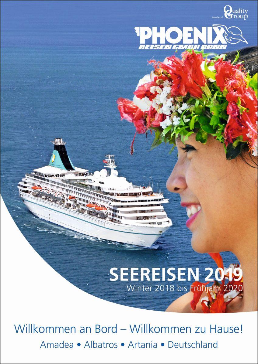 """""""Seereisen 2019"""" – der neueste Kreuzfahrtenkatalog von Phoenix Reisen"""